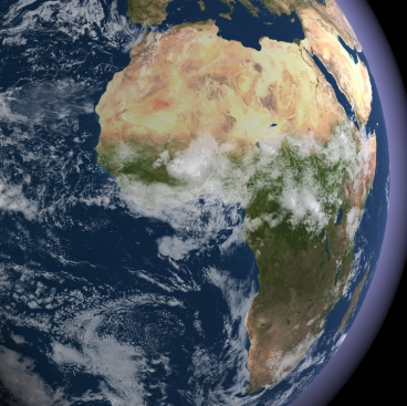 View of Africa from space