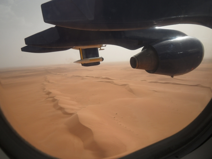 Airborne fieldwork over the Erg Chech, Mali